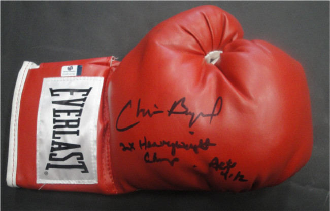 Chris Byrd Hand Signed Autographed Everlast Boxing Glove GA GV 814182