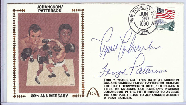 Ingemar Johansson Floyd Patterson Signed Autographed First Day Cover JSA U82395