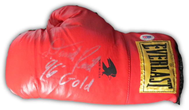 Dave Reid Signed Autographed Everlast Boxing Glove 96 Gold Olympics PSA M58761