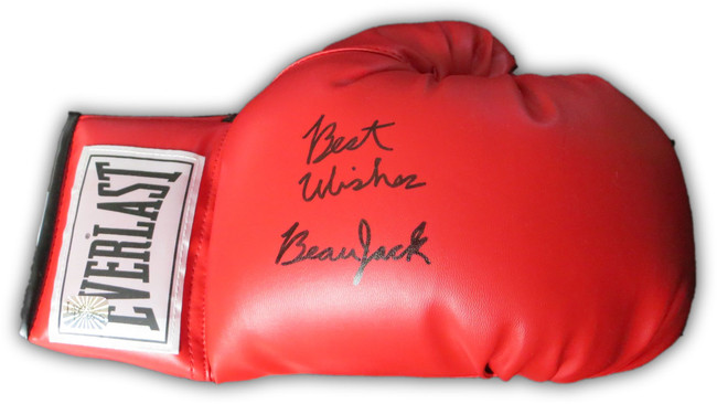 Beau Jack Signed Autographed Everlast Boxing Glove Best Wishes JSA CC76995