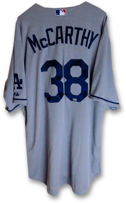 Brandon McCarthy Team Issue Jersey LA Dodgers Road  Gray 2015 #38 MLB HZ533432
