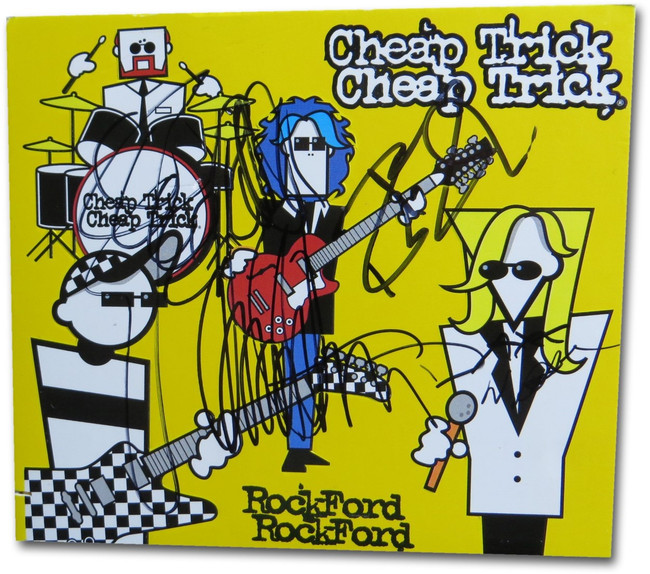 Cheap Trick Band Signed Autographed CD Cover Rockford JSA DD36045