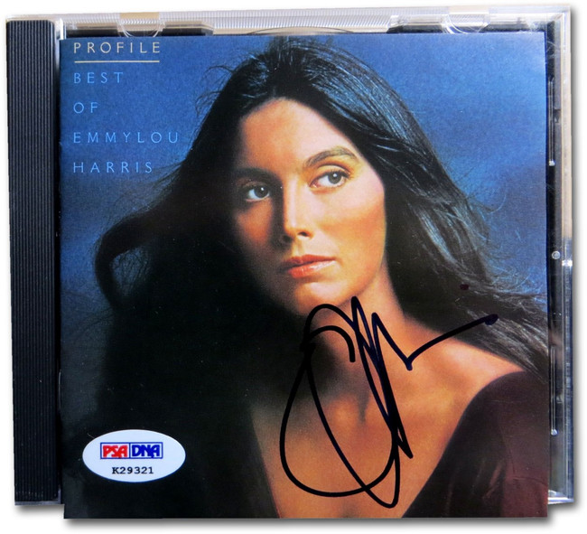 Emmylou Harris Signed Autographed CD Cover Profile - Best Of PSA K29321