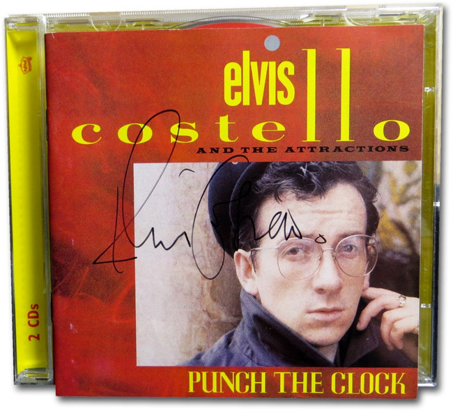 Elvis Costello Signed Autographed CD Cover Punch the Clock PSA W77775
