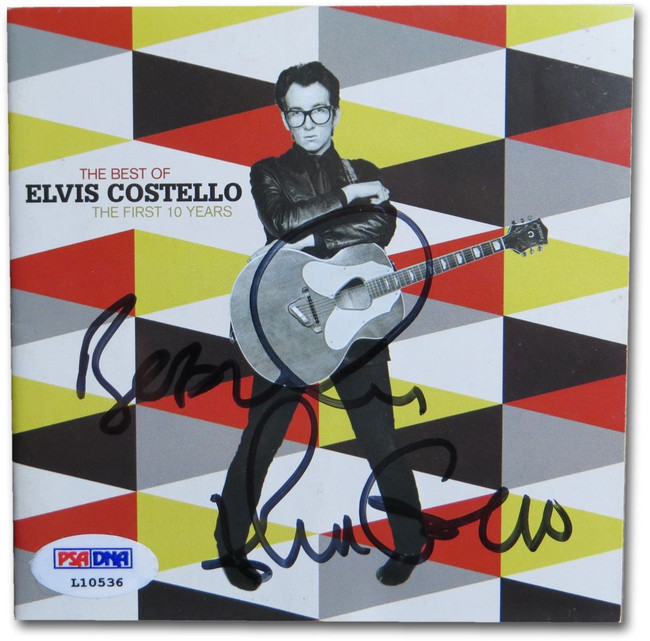 Elvis Costello Signed Autographed CD Booklet The Best of . . .  PSA L10536