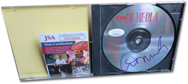 Al Di Meola Signed Autographed CD The Manhattan Years JSA DD36048