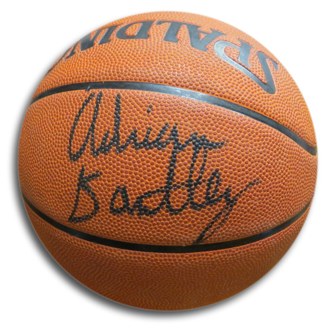 Adrian Dantley Signed Autographed Spalding Basketball Jazz Lakers w/COA