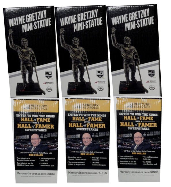 3x Wayne Gretzky  Mini Statue Stadium  Give Away SGA Bobble Head All New in Box