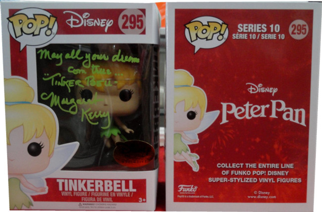 Margaret Kerry Auto Funko Pop! Tinkerbell May All Your Dreams Come True JSA