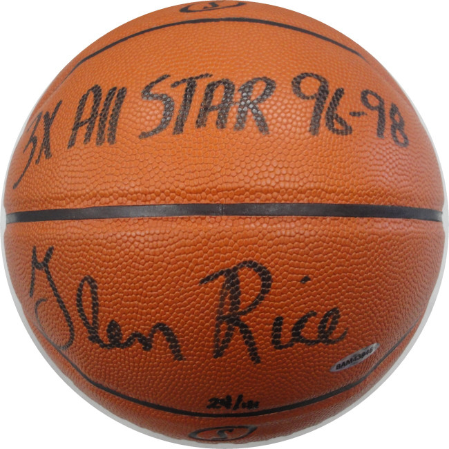 Glen Rice Signed Autographed Basketball Game Series 3x All Star 96-98 24/41 UDA