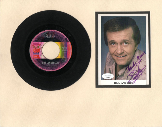 "Bill Anderson Signed Autographed 11X14 Matted Photo w/ ""45 Record JSA EE36628"