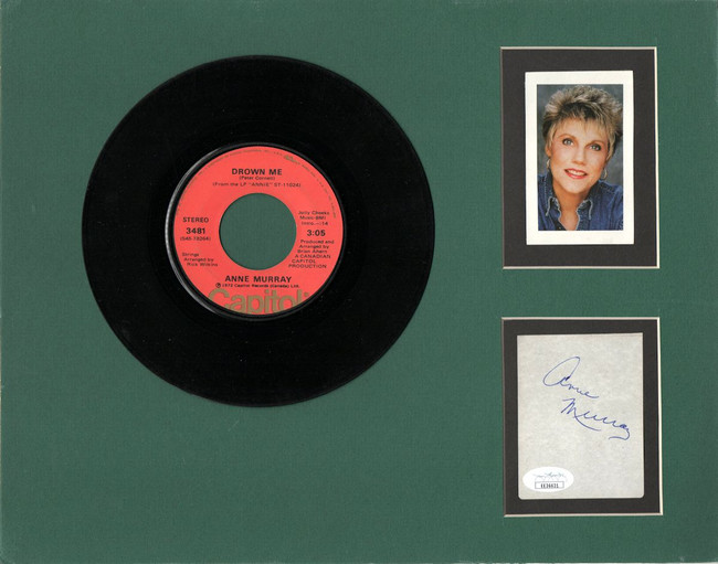 "Anne Murray Signed Autographed 11X14 Matted Cut w/ ""45 Record JSA EE36631"