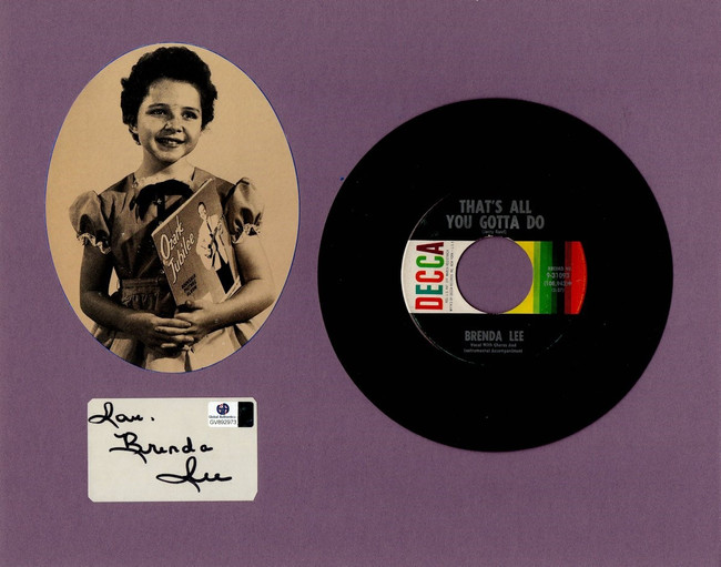 Brenda Lee Autographed 11X14 Matted Photo Record Cut Country Legend GV892973