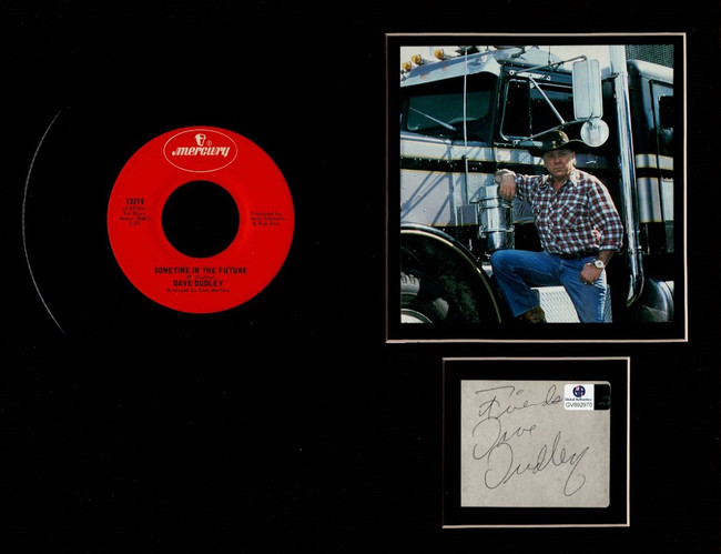 Dave Dudley Autographed 11X14 Matted Photo Record Cut Country Singer GV892970