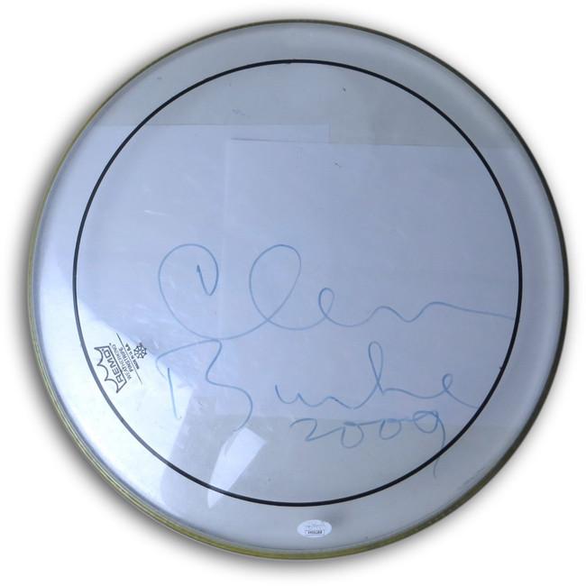 "Clem Burke Signed Autographed 16"" Drum Head Blondie Drummer 2009 JSA FF06288"