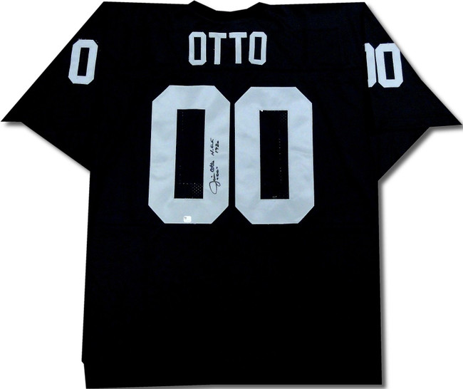 "Jim Otto Signed Autographed Jersey ""HOF 1980"" Oakland Raiders Black GV298936"