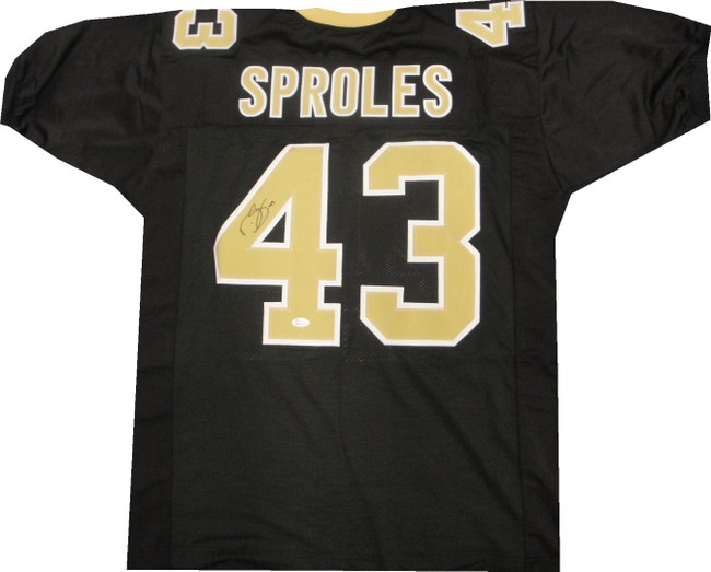 Darren Sproles Signed Autographed Jersey New Orleans Saints Black JSA COA