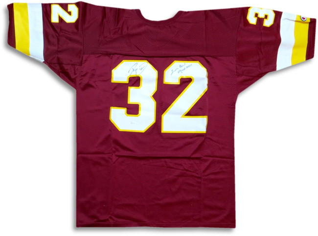 """Ricky Ervins Autographed Jersey Washington """"Super Bowl Champ XXVI"""" JSA WP801239"""