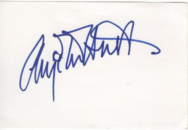Angelica Huston Signed Autographed Index Card The Addams Family JSA FF53011