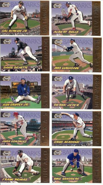 Ballparks 1996 Pinnacle Summit Complete Set (18) Griffey Bonds Jeter #/8000