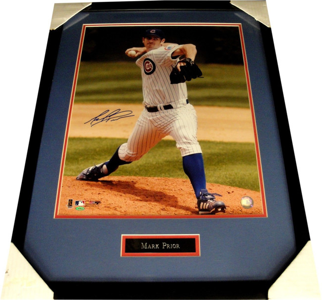 Mark Prior Hand Signed Autographed Custom Framed 16X20 Photograph Cubs