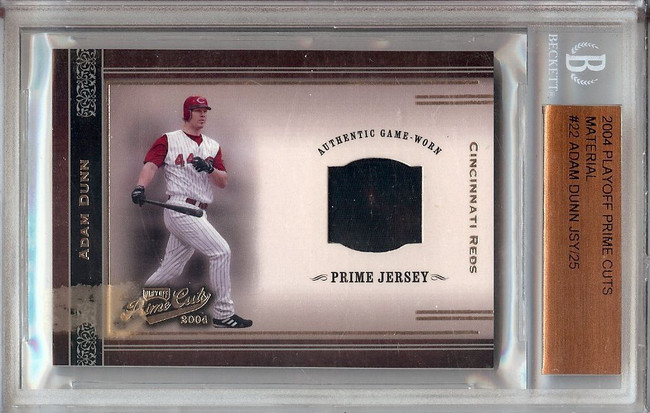 Adam Dunn 2004 Playoff Prime Cuts Jersey Card BGS Slabbed Reds #22 18/25