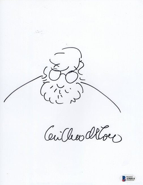 Guillermo del Toro Signed Autographed 8.5X11 Sketch Drawing Director BAS A96014