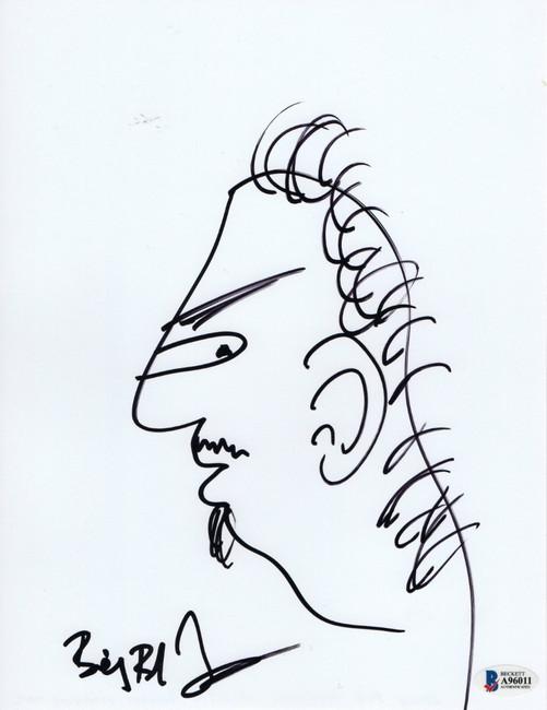 Billy Bob Thornton Signed Autographed 8.5X11 Original Sketch Drawing  BAS A96011