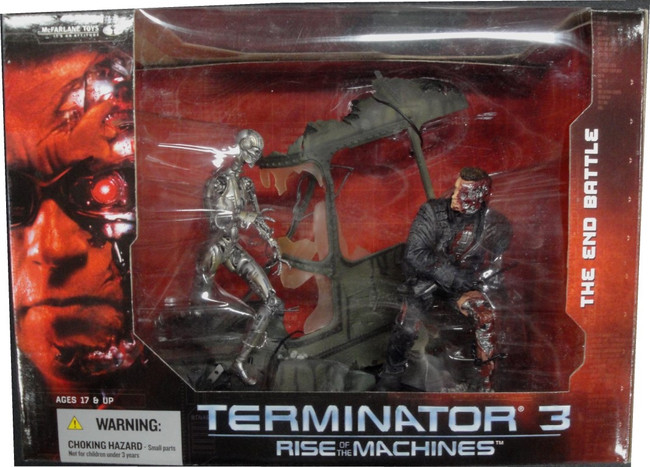 Terminator 3 Rise Of The Machines End Battle Diorama McFarlane New in Box NIB