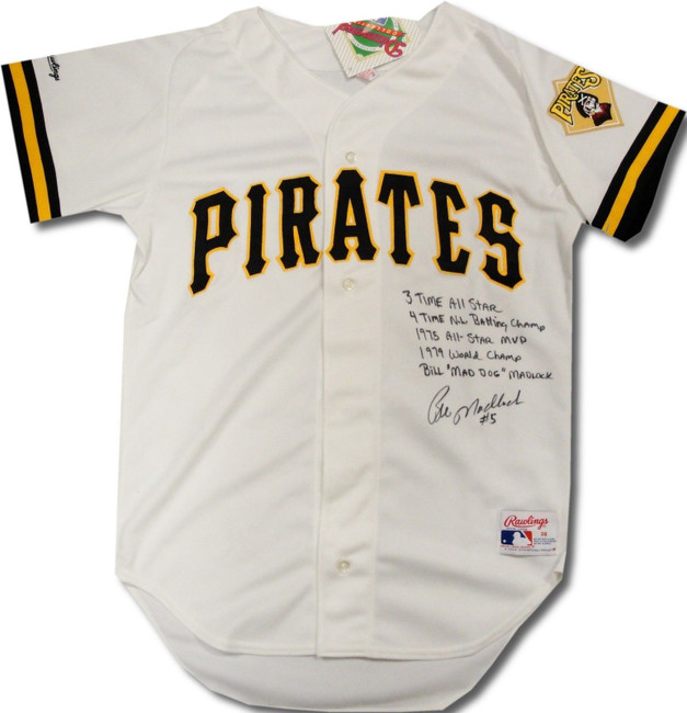Bill Madlock Hand Signed Autographed Pirates Jersey With Multi Stats + COA