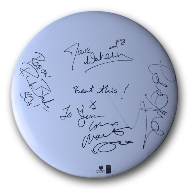 "1980s Pop Multi Signed Autographed 10"" Drumhead Dave Wakeling Andy Bell GV900514"