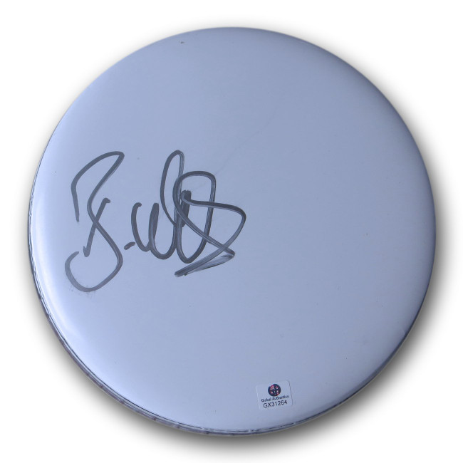 "Brad Wilk Signed Autographed 8"" Drumhead Rage Against the Machine GX31264"