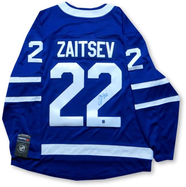 Nikita Zaitsev Signed Autographed Jersey Toronto Maple Leafs Home Blue w/COA