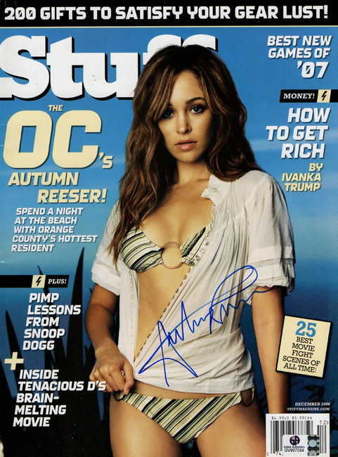 Autumn Reeser Signed Autographed Magazine Stuff December 2006 The O.C. GV907094