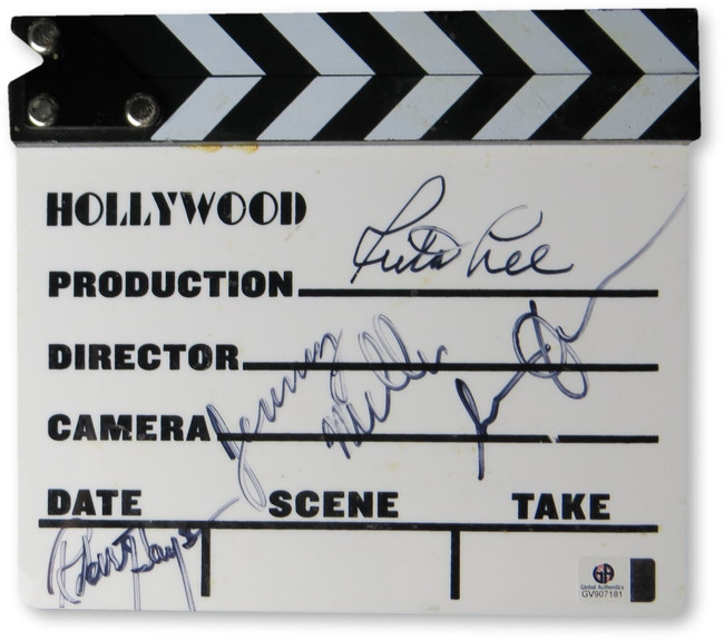 1980s Stars Multi Autographed Movie Clapper Susan Olsen Robert Hays GV907181