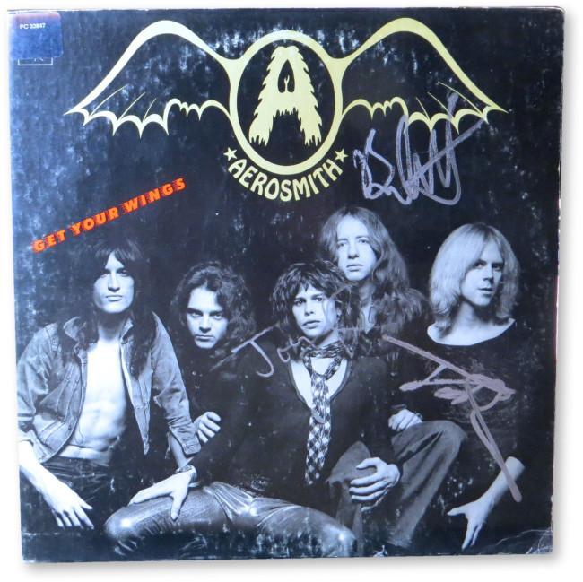 Aerosmith Multi Signed Autographed Album Kramer Hamilton Whitford JSA GG68670
