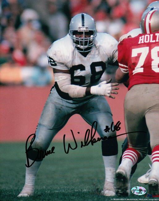 Bruce Wilkerson Signed 8X10 Photo Autograph Raiders vs. 49ers Auto w/COA
