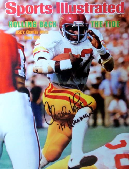 "Charles White Autographed 16X20 Photo Sports Illustrated USC ""79 Heisman"" COA"
