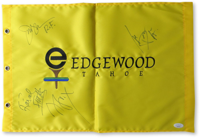 Rascal Flatts Band Signed Autograph Golf Flag LeVox Rooney DeMarcus JSA GG68795