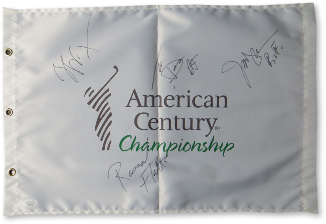 Rascal Flatts Band Signed Autograph Golf Flag LeVox Rooney DeMarcus JSA GG68794
