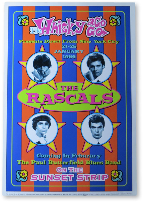 The Rascals 13x19 Poster Whisky-A-Go-Go