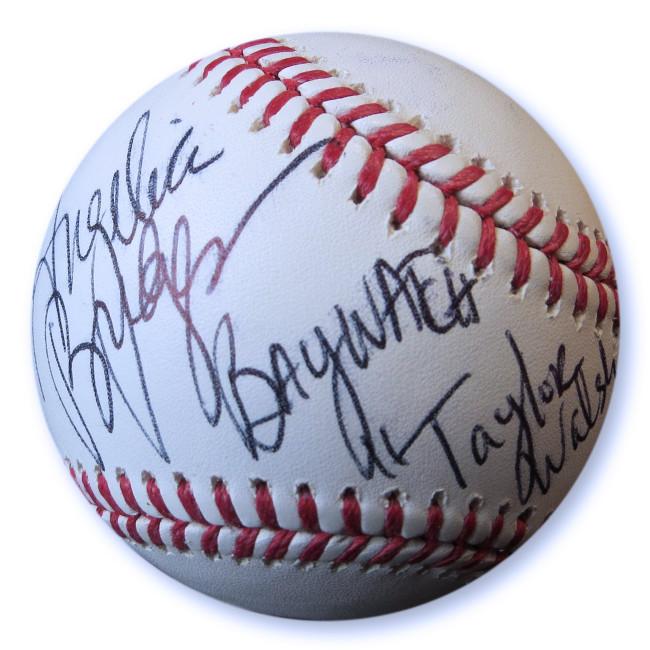 Angelica Bridges Signed Autographed Baseball Baywatch Taylor Walsh JSA GG68742
