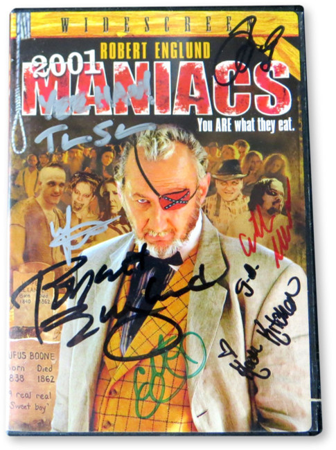 2001 Maniacs Cast Signed Autographed DVD Cover Englund Shaye Gross GV910467