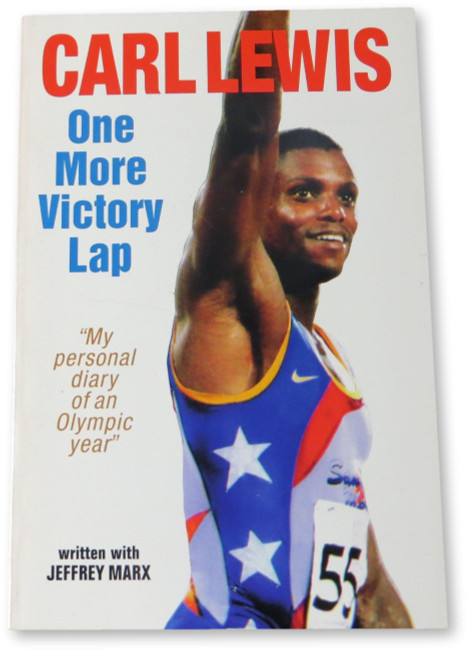 Carl Lewis Signed Autographed Hardcover Book One More Victory Lap JSA HH36188