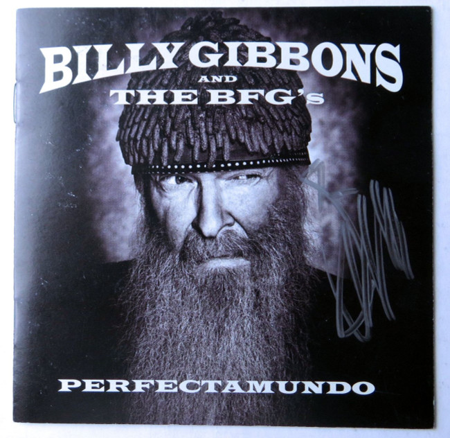 Billy Gibbons Autographed CD Booklet Cover The BFGs Perfectamundo JSA HH37465