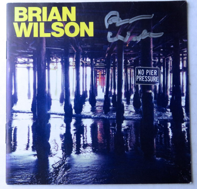 Brian Wilson Signed Autographed CD Booklet Cover No Pier Pressure JSA HH37454