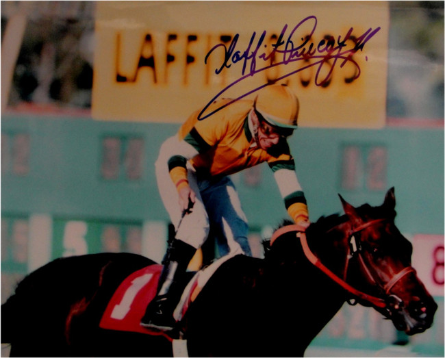 Laffit Pincay Jr Hand Signed Autograph 8x10 Photo Kentucky Derby Jockey 1984