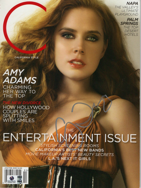 Amy Adams Signed Autographed C Magazine Janary 2009 GV907543