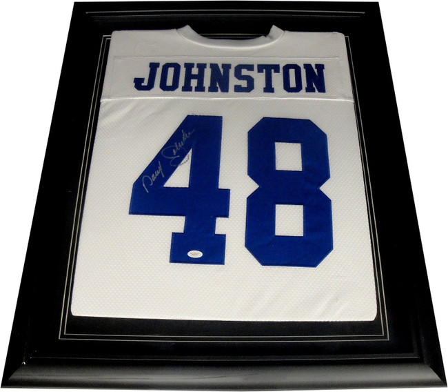 Daryl Johnston Hand Signed Autographed  Cowboys Jersey Custom Framed JSA