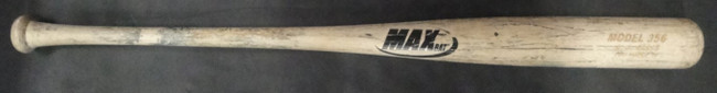 AJ Ellis A.J. Game Used Baseball Bat Max Los Angeles Dodgers UnSigned Uncracked